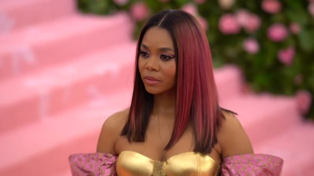 regina hall at the 2019 met gala celebrating camp notes on fashion arrivals at metropolitan museum of art on may 06 2019 in new york city - met gala 2019 stock videos and b-roll footage