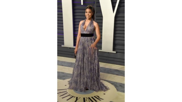 regina hall attends the 2019 vanity fair oscar party hosted by radhika jones at wallis annenberg center for the performing arts on february 24 2019... - vanity fair stock videos and b-roll footage