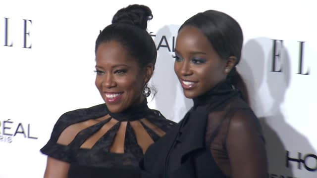 regina king and aja naomi king at 23rd annual elle women in hollywood celebration at four seasons hotel los angeles at beverly hills on october 24... - regina king stock videos and b-roll footage
