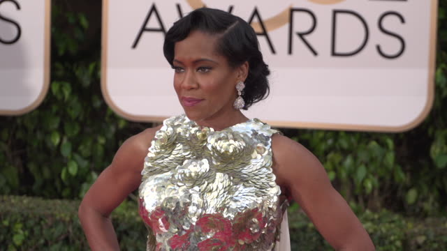 regina king at 73rd annual golden globe awards arrivals at the beverly hilton hotel on january 10 2016 in beverly hills california 4k - regina king stock videos and b-roll footage