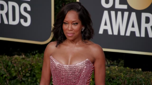 regina king at 76th annual golden globe awards - arrivals in los angeles, ca 1/6/19 - 4k footage - golden globe awards stock videos & royalty-free footage