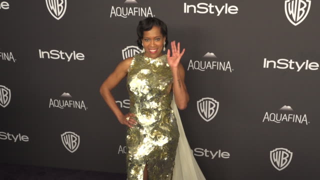 gif regina king at the 17th annual instyle and warner bros pictures golden globe afterparty at the beverly hilton hotel on january 10 2016 in beverly... - regina king stock videos and b-roll footage