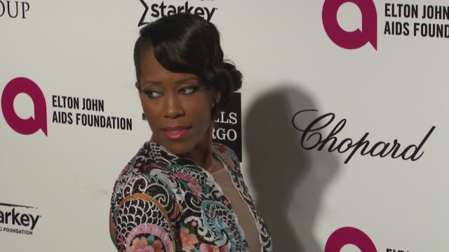 regina king at the 23rd annual elton john aids foundation academy awards viewing party sponsored by chopard neuro drinks and wells fargo on february... - regina king stock videos and b-roll footage