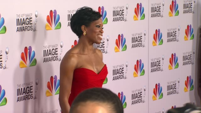 Regina King at The 43rd NAACP Image Awards Arrivals on 2/17/12 in Los Angeles CA