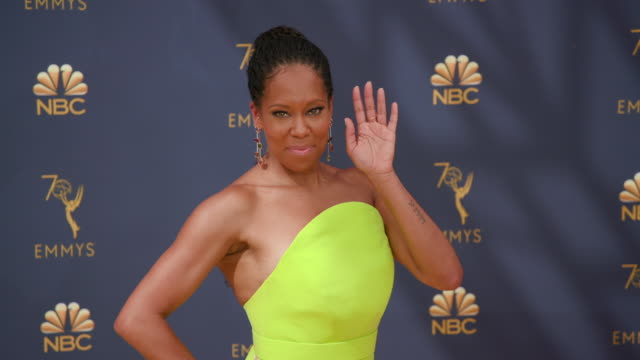 gif regina king at the 70th emmy awards arrivals at microsoft theater on september 17 2018 in los angeles california - regina king stock videos and b-roll footage