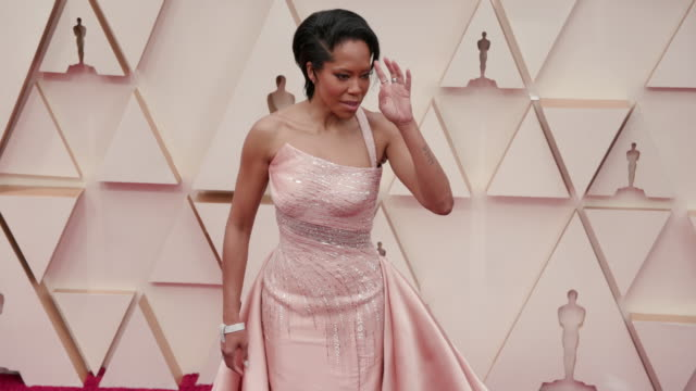 regina king at the 92nd annual academy awards arrivals on feb 09 2020 in hollywood february 9 2020 - academy of motion picture arts and sciences stock videos & royalty-free footage