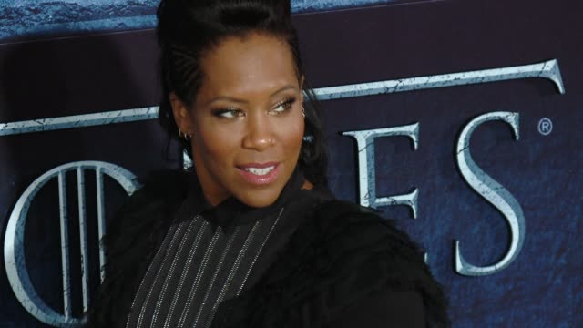 regina king at the game of thrones season 6 los angeles premiere at tcl chinese theatre on april 10 2016 in hollywood california - regina king stock videos and b-roll footage