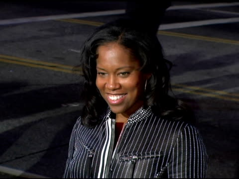 regina king at the 'get rich or die tryin' world premiere at grauman's chinese theatre in hollywood california on november 2 2005 - regina king stock videos and b-roll footage