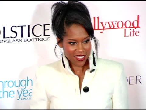 regina king at the hollywood life's 4th annual breakthrough of the year awards arrivals and show at the music box theater in hollywood california on... - regina king stock videos and b-roll footage
