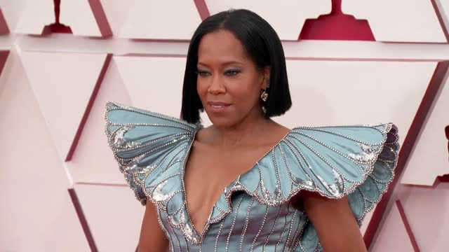 regina king at the 93rd annual academy awards - arrivals on april 25, 2021. - academy awards stock-videos und b-roll-filmmaterial