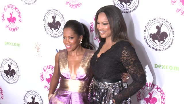 regina king garcelle beauvais at the 2016 carousel of hope ball in los angeles ca - regina king stock videos and b-roll footage