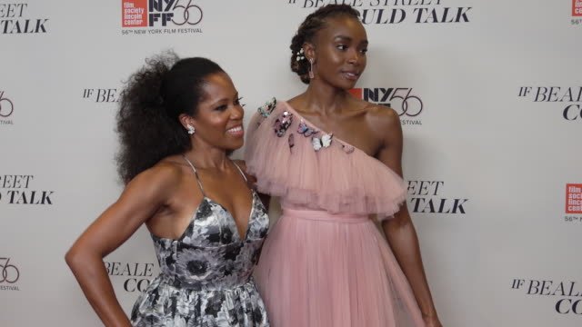 vídeos de stock, filmes e b-roll de regina king kiki layne barry jenkins and stephan james at the 56th annual new york film festival presents the us premiere of james baldwin's if beale... - if beale street could talk