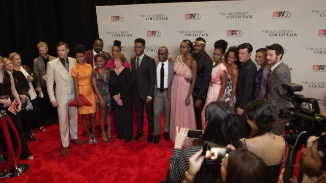 vídeos de stock, filmes e b-roll de regina king kiki layne barry jenkins colman domingo diego luna emily rios ed skrien teyonah parris ebony obsidian and stephan james at the 56th... - if beale street could talk