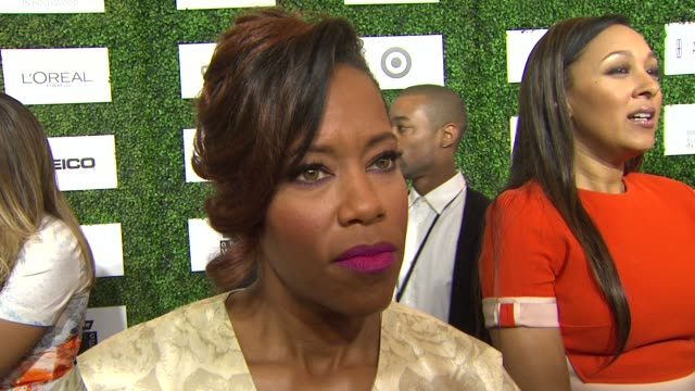 interview regina king on being at the event the importance of the event if more movies about the black experience will be made at the 7th annual... - beverly hills hotel stock videos and b-roll footage