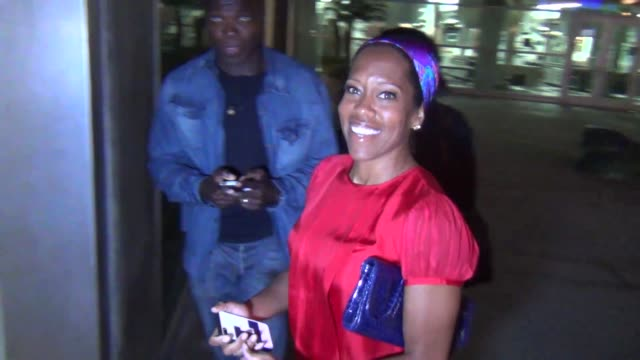 regina king on playing a fbi agent outside of arclight theatre in hollywood at celebrity sightings in los angeles regina king on playing a fbi agent... - regina king stock videos and b-roll footage