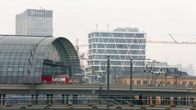 A Regio train operated by Deutsche Bahn AG departs from Berlin's Central Station also known as Hauptbahnhof
