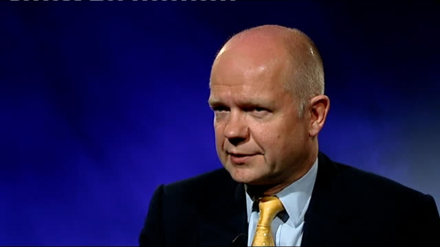 regional and local elections / av referendum results: william hague interview; england: london: int william hague mp interview sot - well i think the... - striding stock videos & royalty-free footage