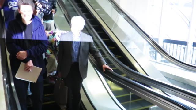regis philbin arrives at los angeles international airport - regis philbin stock videos and b-roll footage