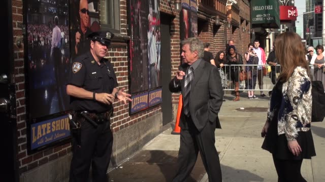 regis philbin arrives at the late show with david letterman in celebrity sightings in new york - regis philbin stock videos and b-roll footage