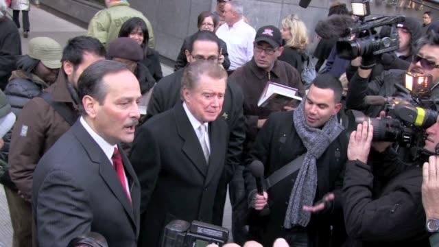 regis philbin in new york 11/18/11 - regis philbin stock videos and b-roll footage