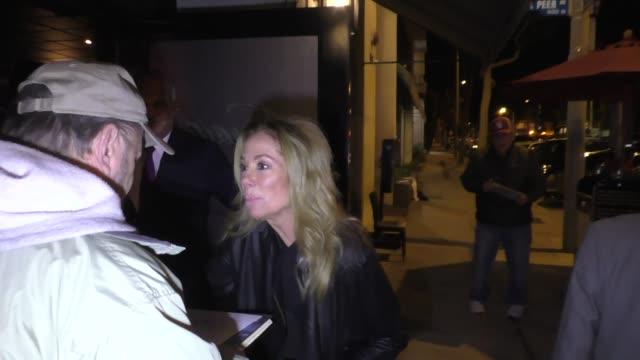 regis philbin & kathie lee gifford arrive at craig's in west hollywood in celebrity sightings in los angeles, - kathie lee gifford stock videos & royalty-free footage