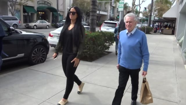 regis philbin leaves lunch in beverly hills at celebrity sightings in los angeles on march 01 2019 in los angeles california - regis philbin stock videos and b-roll footage