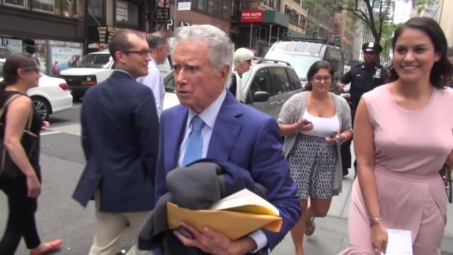 regis philbin leaving the 'today' show in celebrity sightings in new york - regis philbin stock videos and b-roll footage