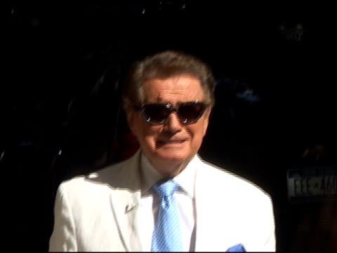 regis philbin tries out some cool sunglasses on the set of 'live with regis kelly in new york 07/05/01 - regis philbin stock videos and b-roll footage