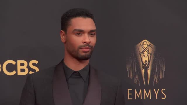 regé-jean page arrives to the 73rd annual primetime emmy awards at l.a. live on september 19, 2021 in los angeles, california. - emmy awards stock videos & royalty-free footage