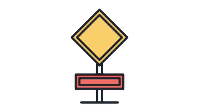 regulatory signs flat line icon animation with alpha - stop sign stock videos and b-roll footage