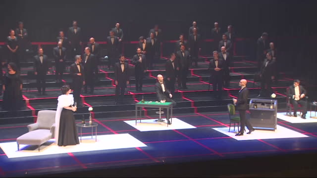 rehearsal of one of the great classics of opera 'la traviata' by guiseppe verdi that will performance today at the royal theatre spain's teatro real... - opera stock videos & royalty-free footage