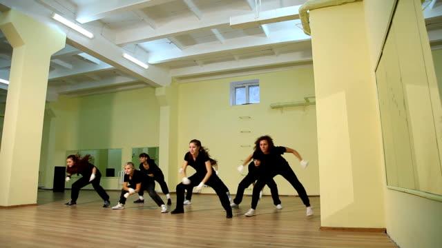 rehearsal of the dance floor - modern dancing stock videos & royalty-free footage