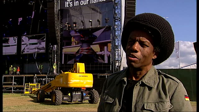 rehearsals and interviews for nelson mandela's 90th birthday concert eddy grant interview sot on brixton and song 'electric avenue' about his... - calypso stock videos and b-roll footage