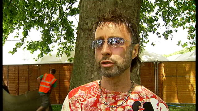 Rehearsals and interviews for Nelson Mandela's 90th birthday concert Paul Rodgers interview SOT Describes being Queen frontman as like sitting in a...