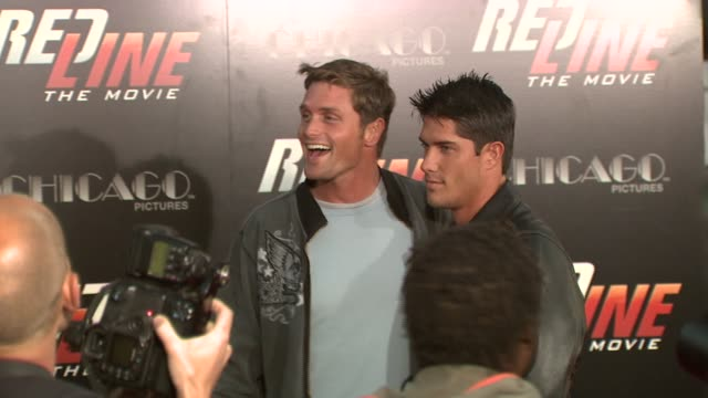 reichen lehmkuhl and guest at the 'redline' los angeles premiere at grauman's chinese theatre in hollywood california on april 12 2007 - reichen lehmkuhl stock videos & royalty-free footage