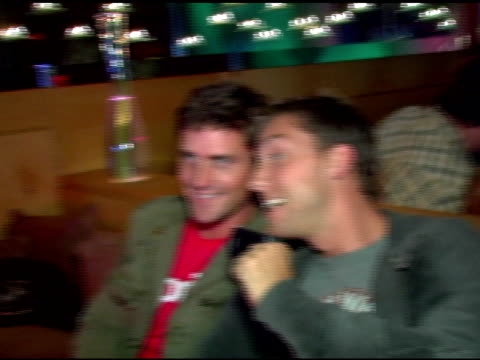 reichen lehmkuhl and lance bass at the 31st annual toronto international film festiva at club v in toronto ontario on september 9 2006 - lance bass stock videos and b-roll footage