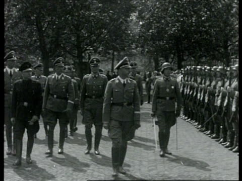 reichsfuhrer s.s. heinrich himmler visiting netherlands / netherlands - uniform stock videos & royalty-free footage