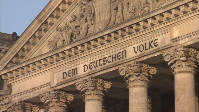 reichstag, berlin - pediment stock videos & royalty-free footage