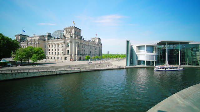 reichstag building and river spree - lobe stock videos & royalty-free footage