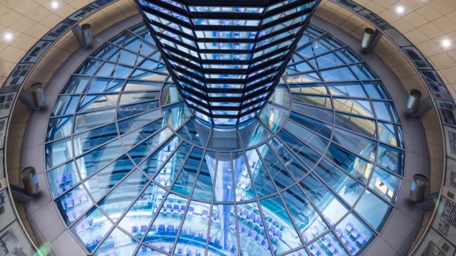 reichstag dome, the reichstag building - cupola video stock e b–roll