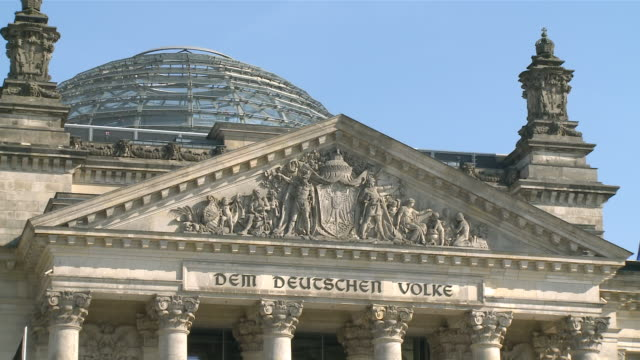 ms reichstag  glas dome / berlin, germany - western script stock videos & royalty-free footage