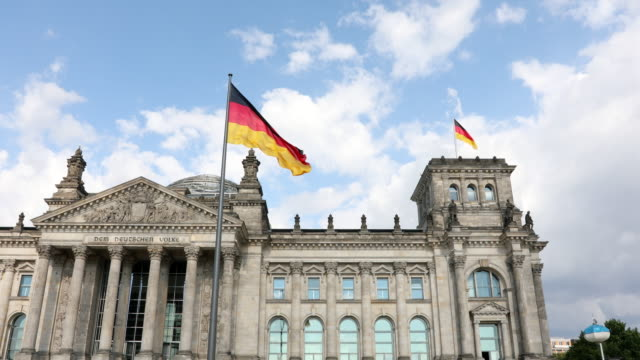 reichstag government building in berlin, germany - german culture stock videos & royalty-free footage