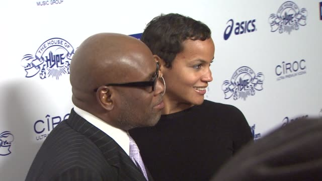 LA Reid and his wife at the NIVEA at the Island Def Jam 2009 GRAMMY's After Party at Los Angeles CA