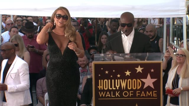 a reid at mariah carey honored with star on the hollywood walk of fame on august 05 2015 in hollywood california - mariah carey stock videos and b-roll footage
