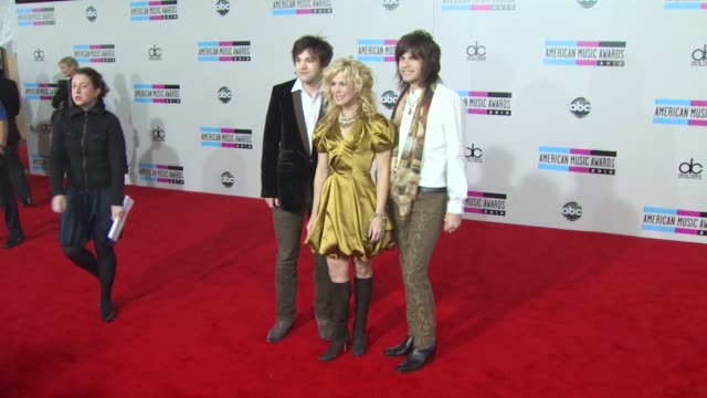 reid perry kimberly perry and neil perry of the band perry at the 2010 american music awards arrivals at los angeles ca - american music awards stock videos and b-roll footage