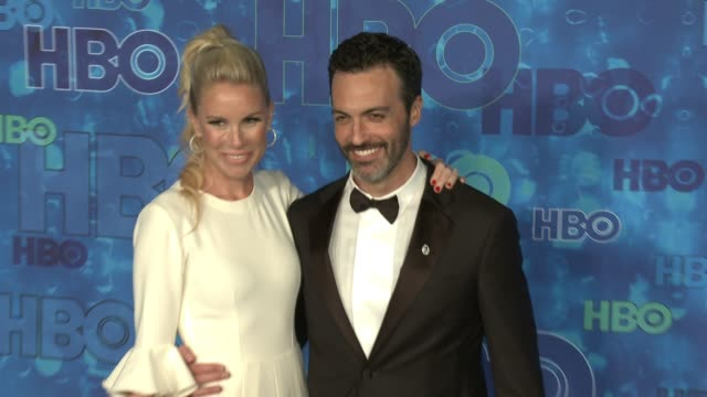Reid Scott and Elspeth Keller at the HBO's Post Emmy Awards Reception Arrivals at The Plaza at the Pacific Design Center on September 18 2016 in Los...
