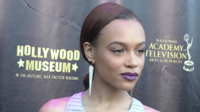 Reign Edwards at the 2016 Daytime Emmy Awards Nominees Reception at The Hollywood Museum in Hollywood Celebrity Sightings on April 27 2016 in Los...