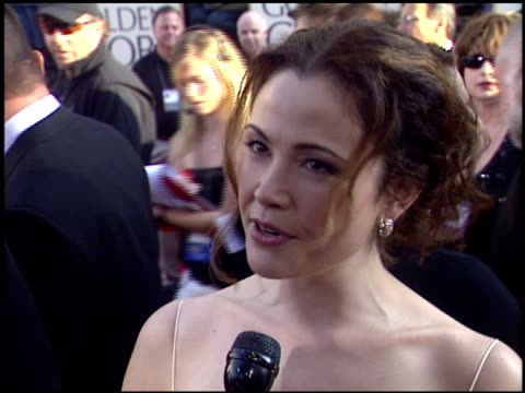 reiko aylesworth at the 2004 golden globe awards at the beverly hilton in beverly hills california on january 25 2004 - 2004 stock videos and b-roll footage