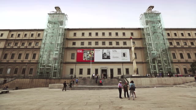 reina sofia museum - museum stock videos & royalty-free footage