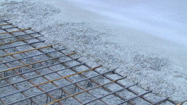 Pavimento in cemento armato in cantiere di PAN
